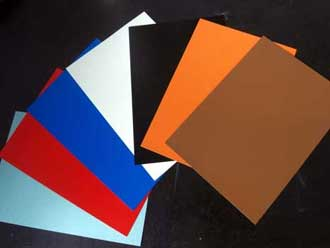 colored aluminum sheets